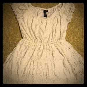 Trixxi white lace vintage dress